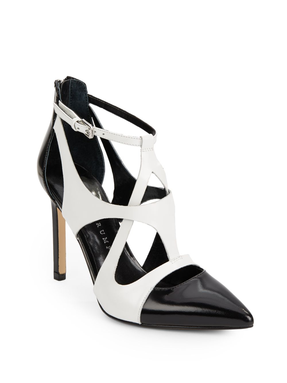 8ab559c16b9 Lyst - Ivanka Trump Chatty Colorblock Leather Cutout Pumps in Black