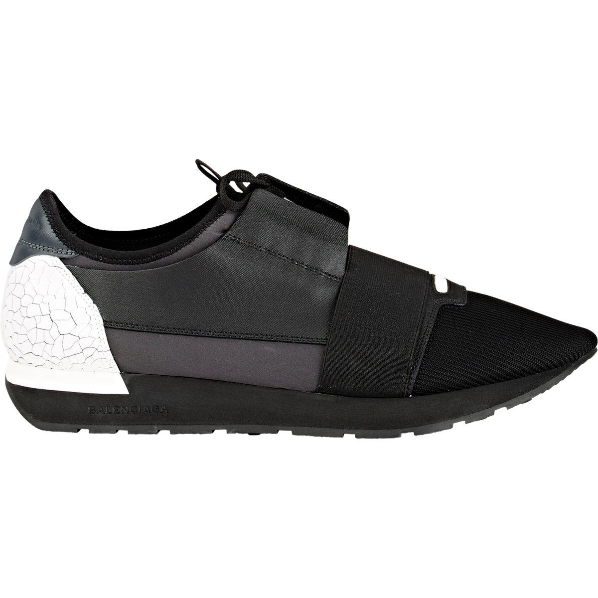 c475534898ee Lyst - Balenciaga Multi-material Race Sneakers in Black for Men