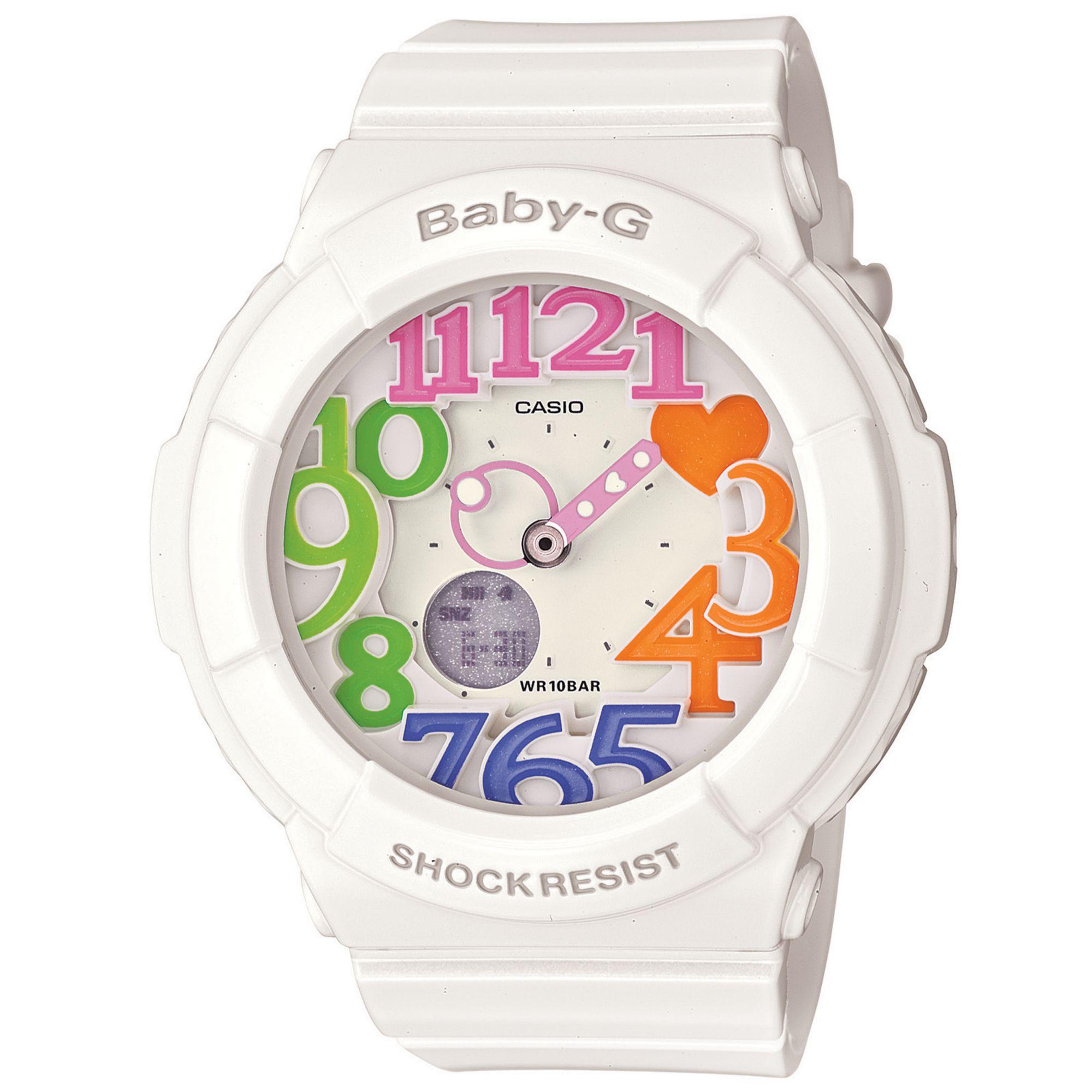 Lyst - G-Shock Babyg Womens Analogdigital White Resin Strap Watch ... b44f1e911
