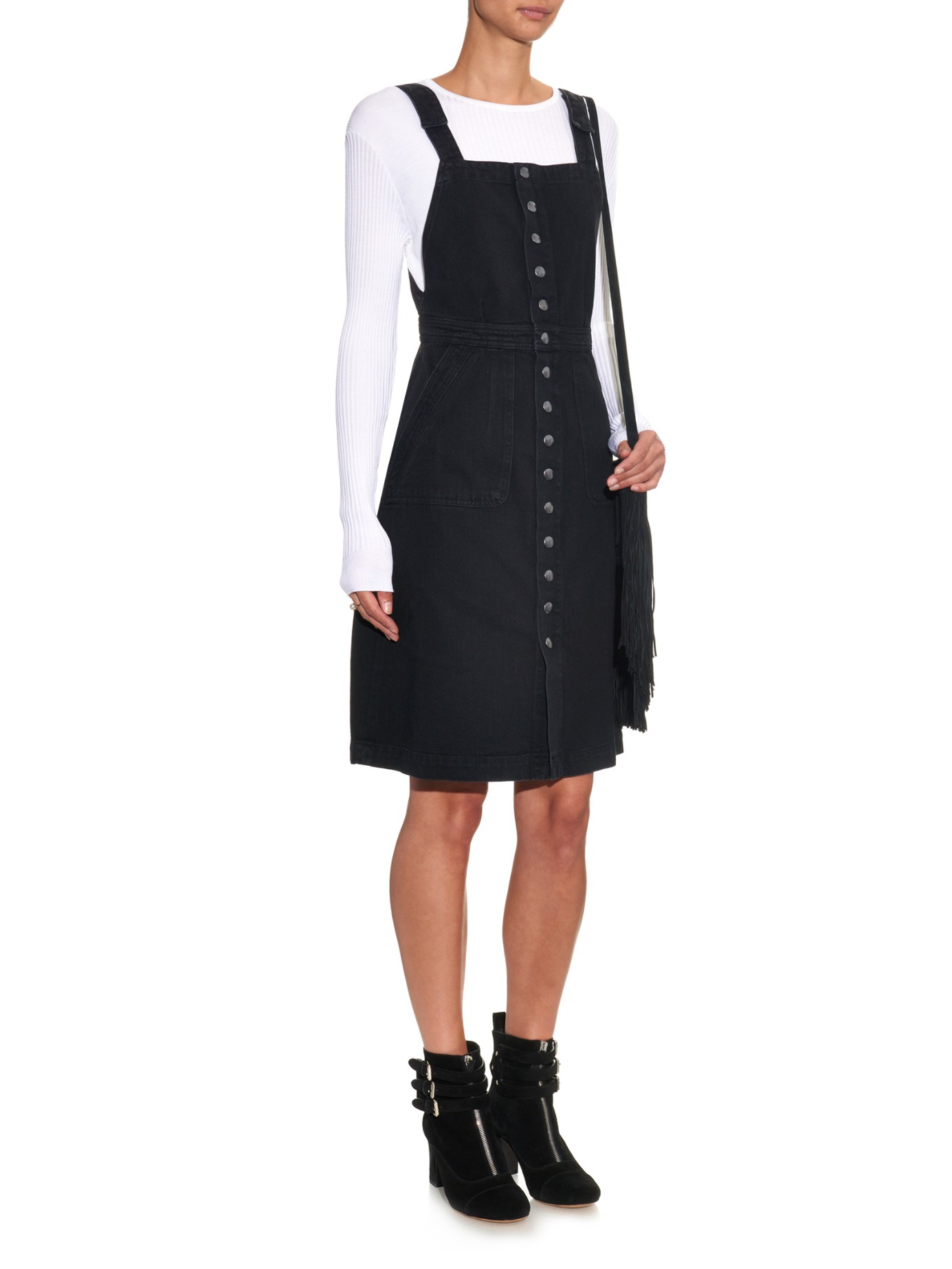 e81972a97ef Lyst - M.i.h Jeans Eastman Button-through Denim Dress in Black