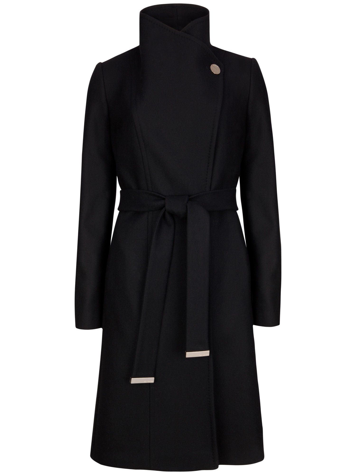Ted Baker Wool Lorili Long Wrap Coat In Black Lyst