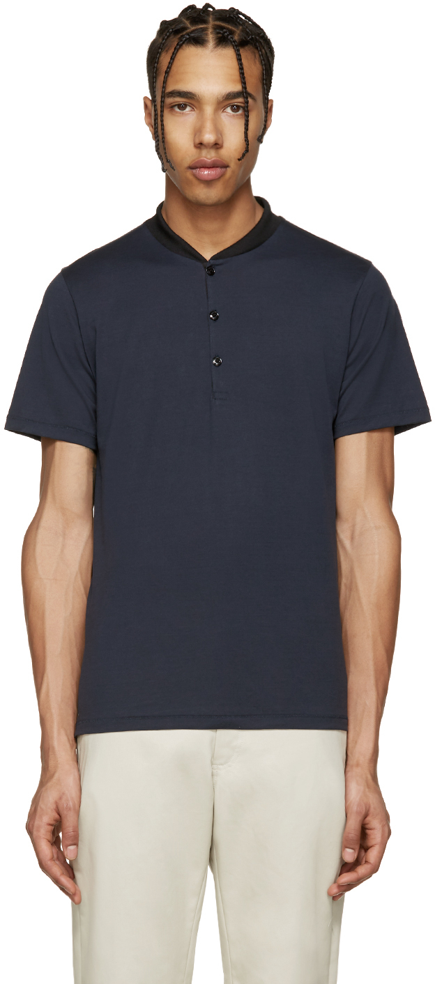 Rag bone navy knox t shirt in blue for men lyst for Rag and bone t shirts