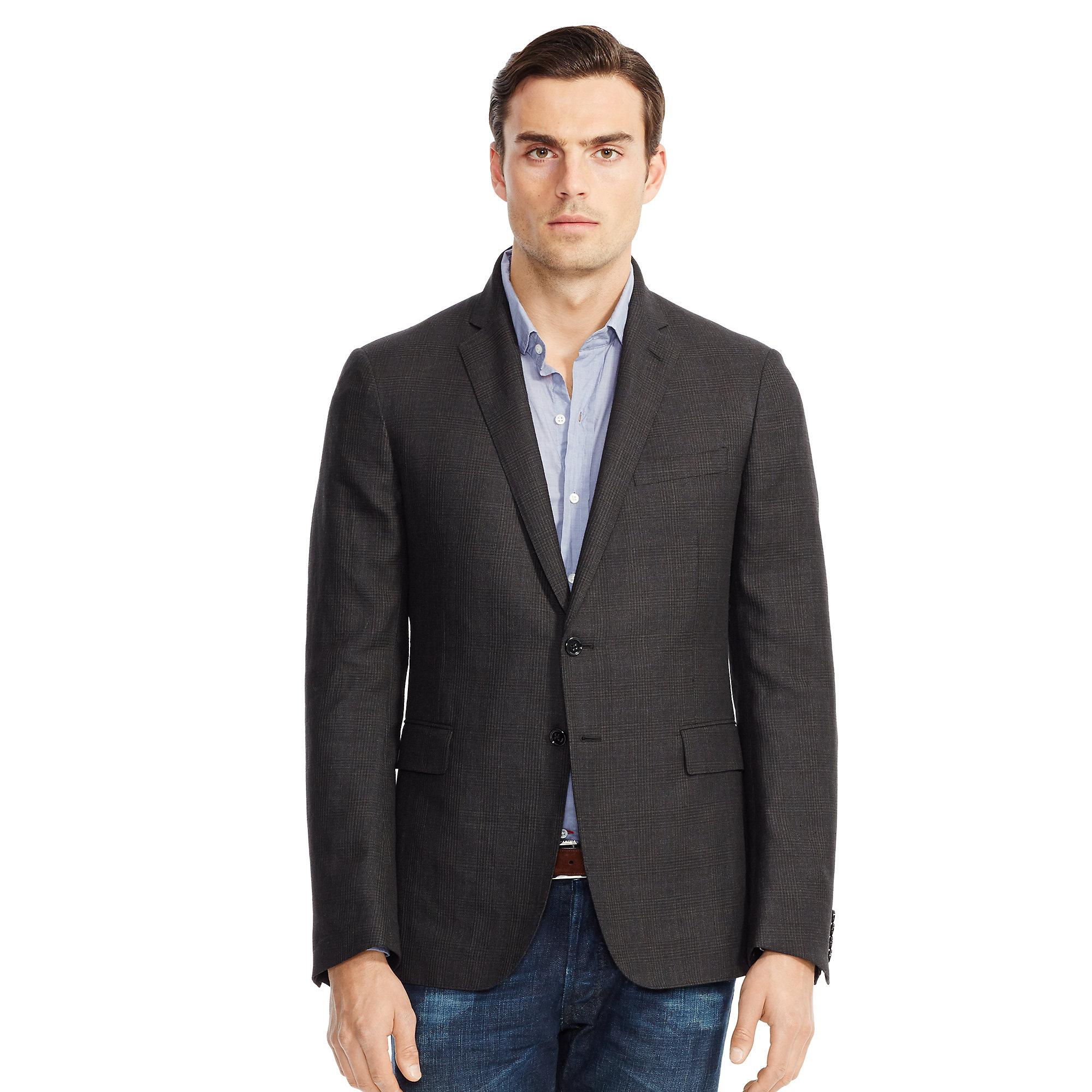d03eb5c59396 Ralph Lauren Black Label Nigel Glen Plaid Sport Coat in Black for ...