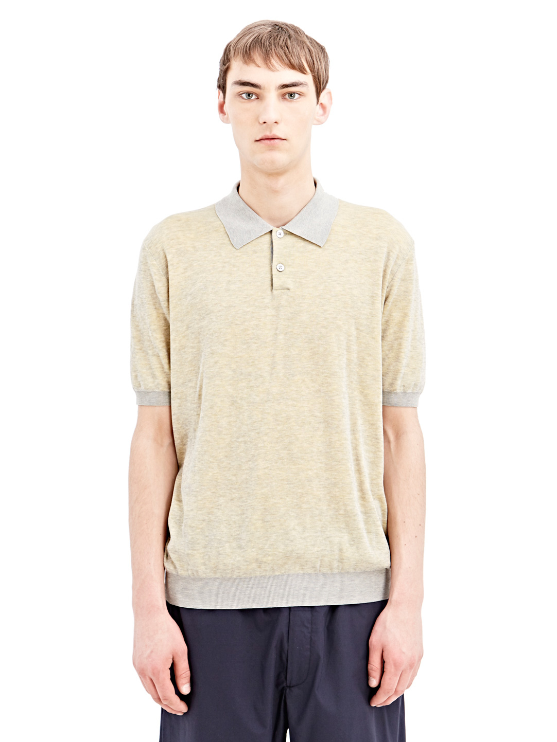 Lyst jil sander mens polo shirt in yellow for men for Jil sander mens shirt