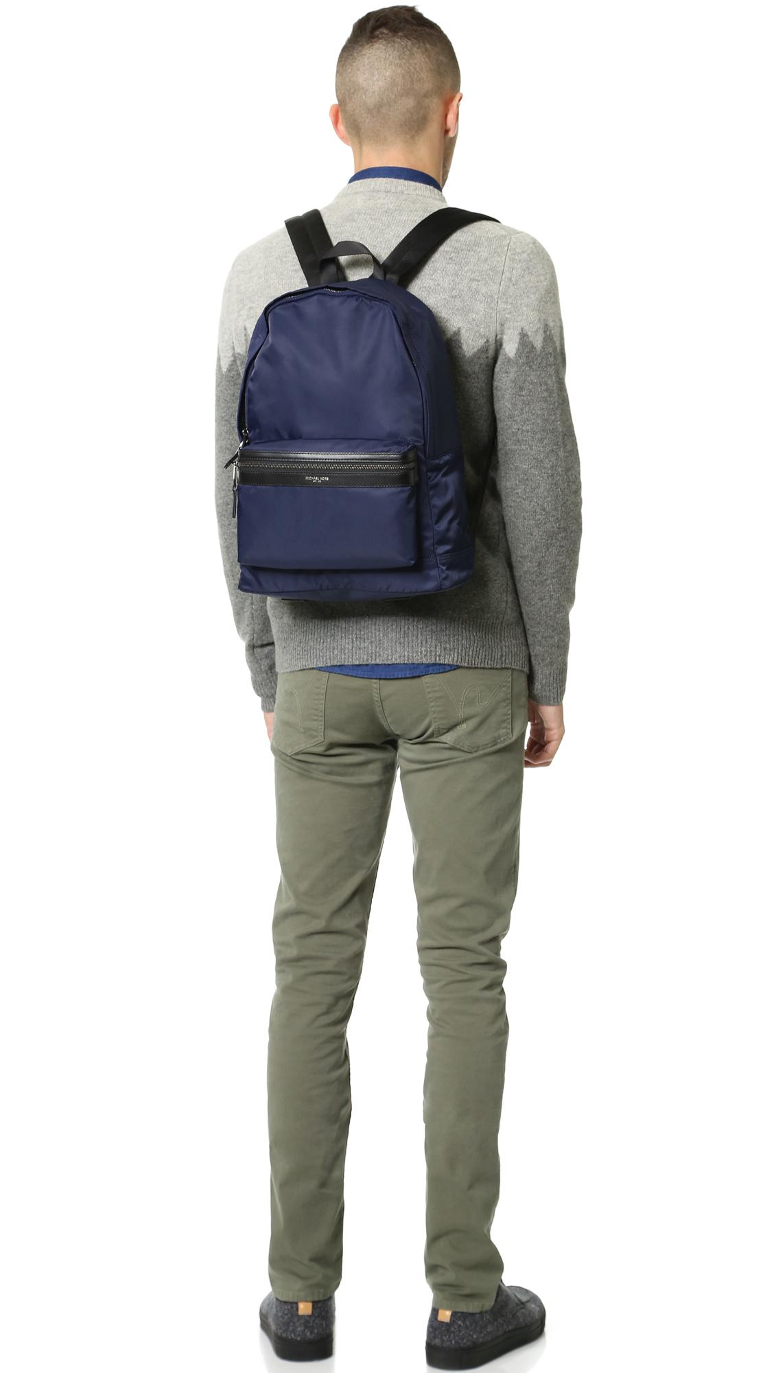 4ed6c53f90 Lyst - Michael Kors Kent Nylon Backpack in Blue for Men
