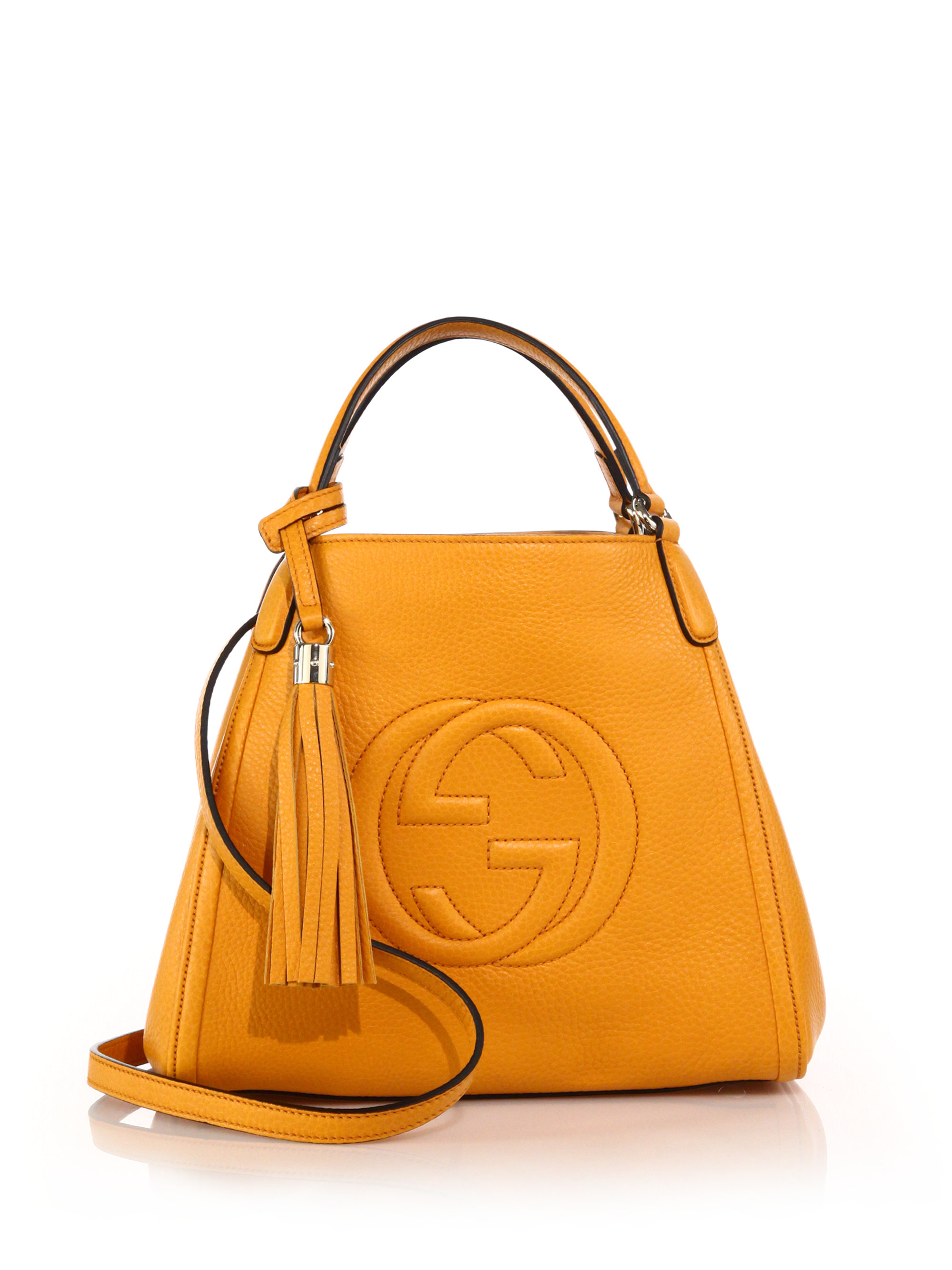 Gucci Soho Leather Shoulder Bag in Yellow | Lyst