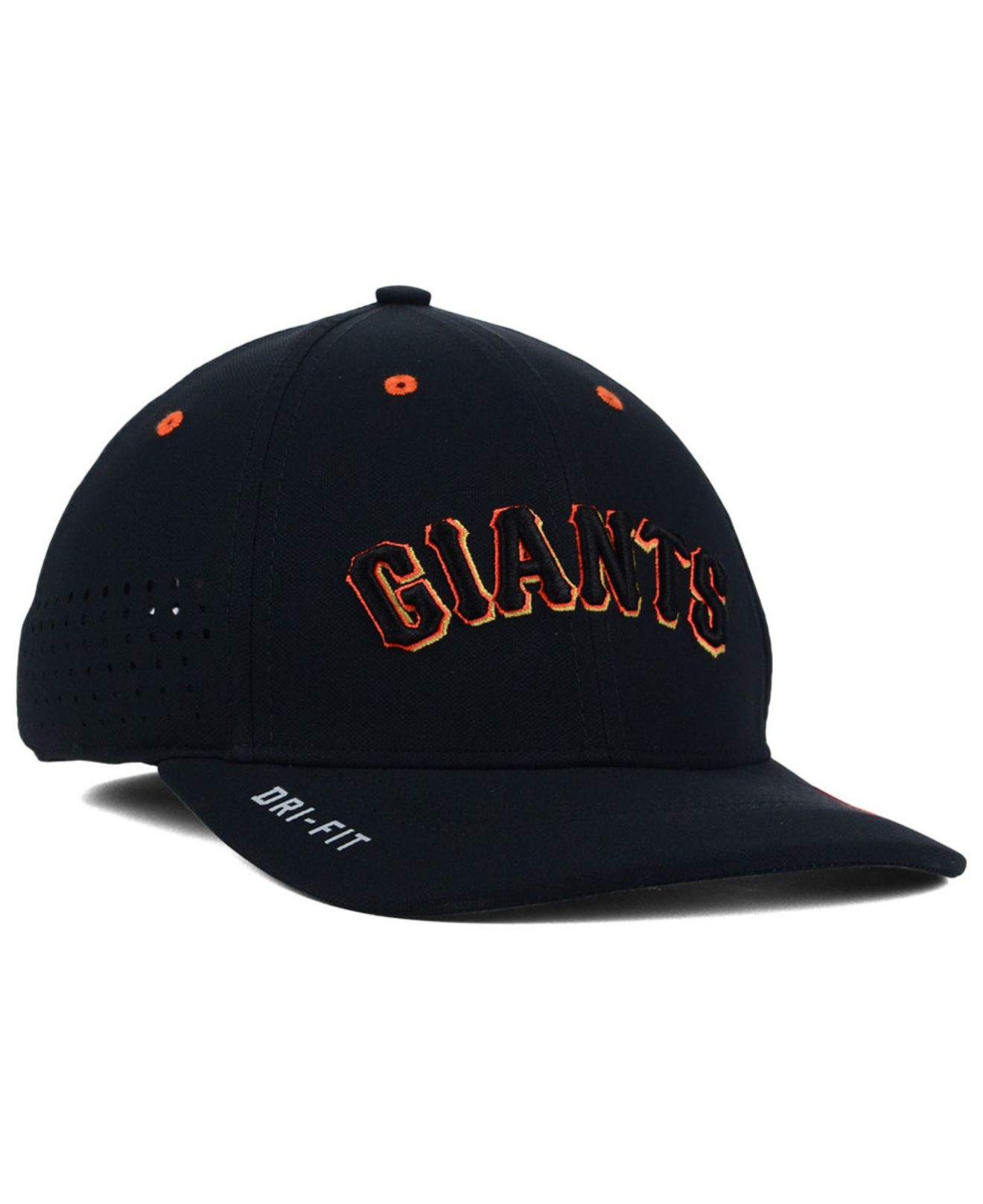 bd1dd98f0b1a9 ... new zealand lyst nike san francisco giants vapor swoosh flex cap in  black for men 942d7