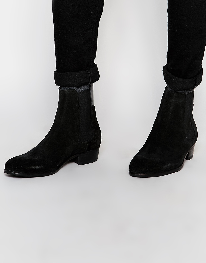 Cheap Discount Sale Popular Cheap Price Leather Ankle Boots - Black leather/suede Hudson Affordable Online Cheap Price In China Explore Online Q4my7E7aaV