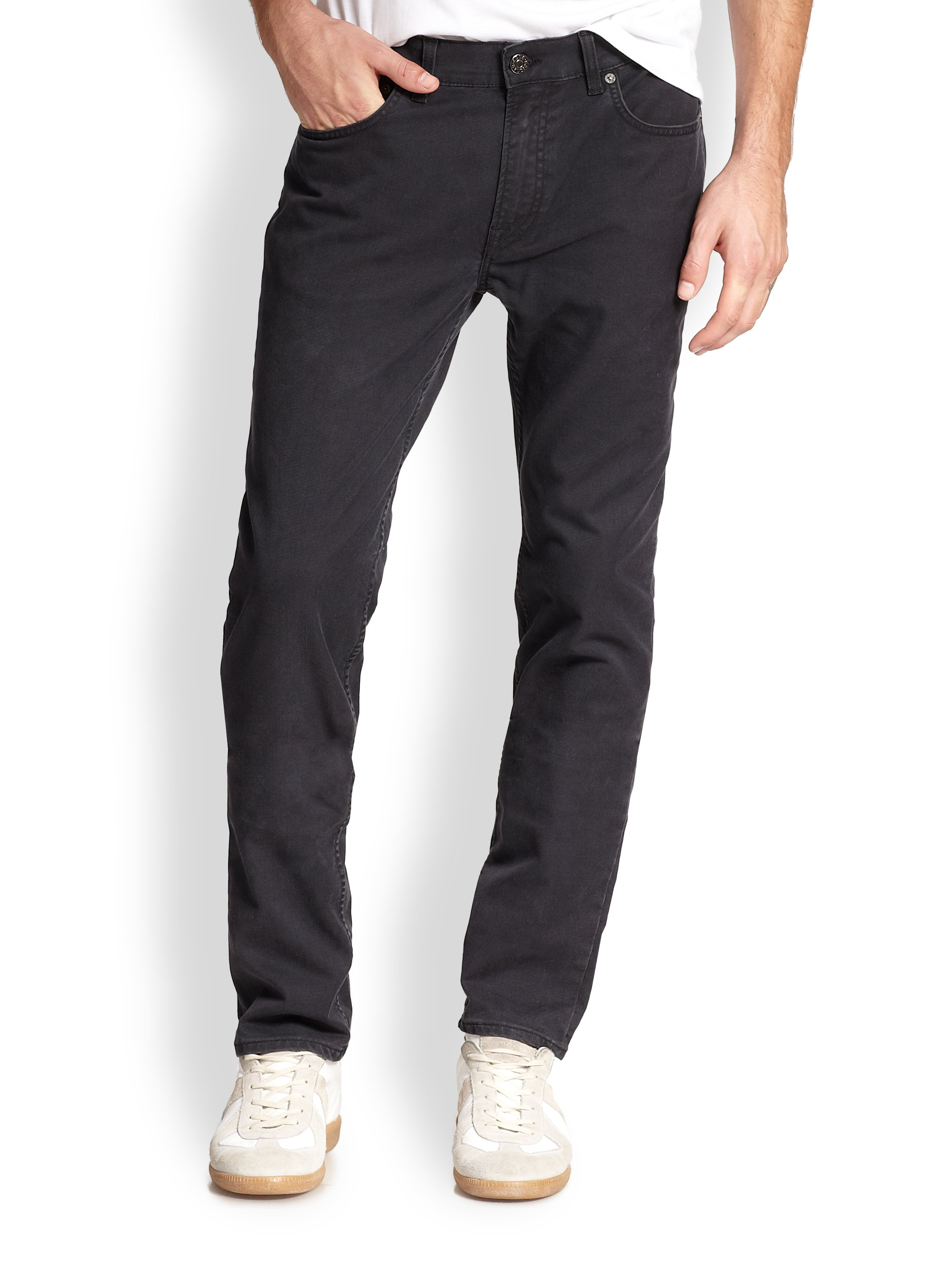 acne studios ace ups straight leg jeans in black for men lyst. Black Bedroom Furniture Sets. Home Design Ideas