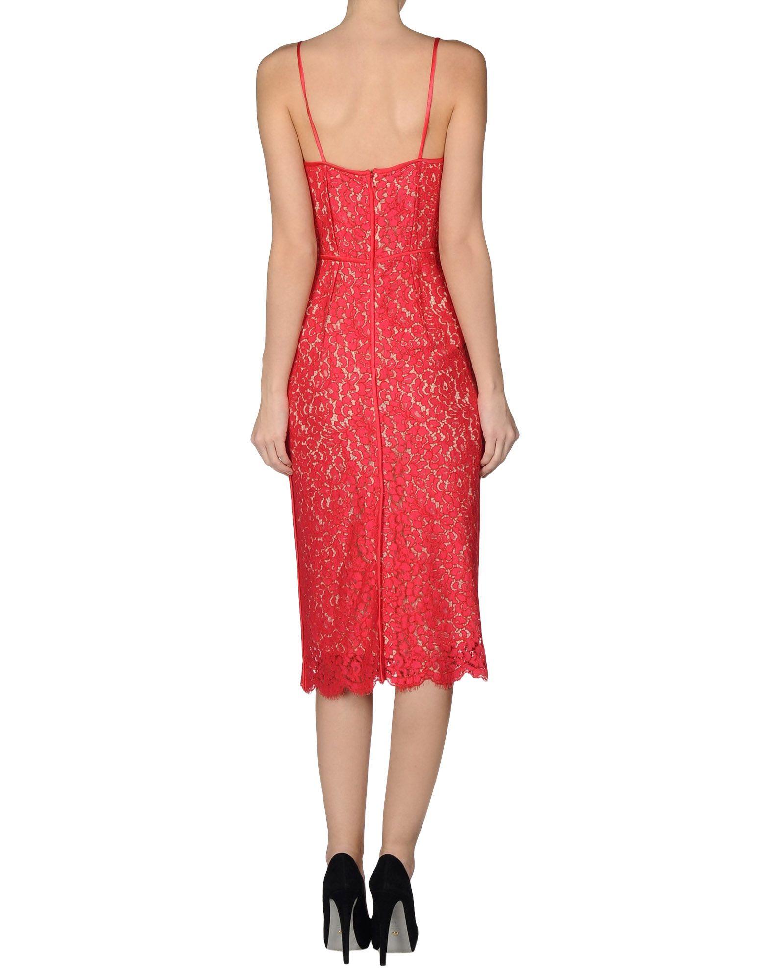 Lyst - Michael Kors 34 Length Dress in Red