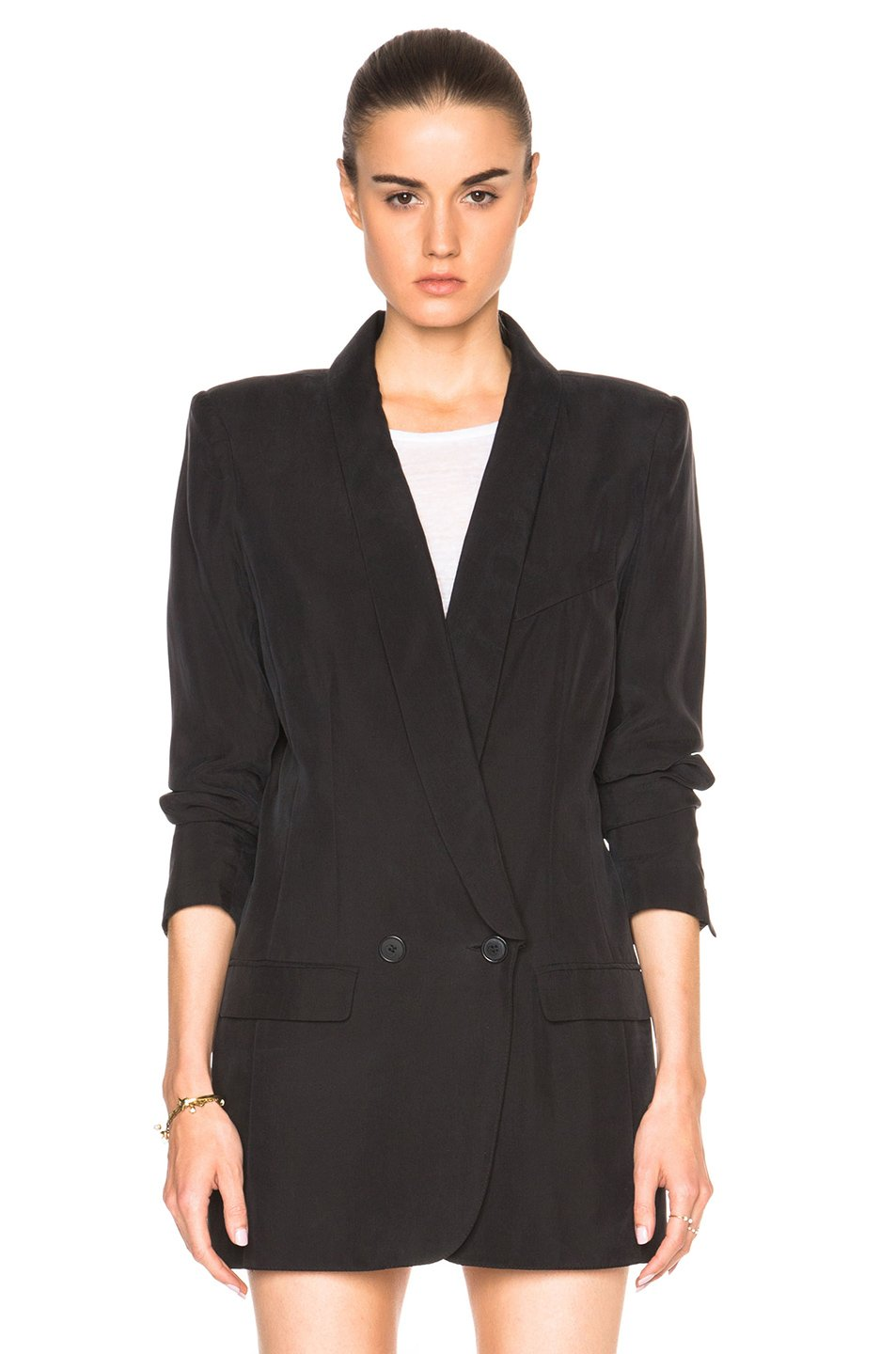 Smythe Oversized Blazer In Black Lyst