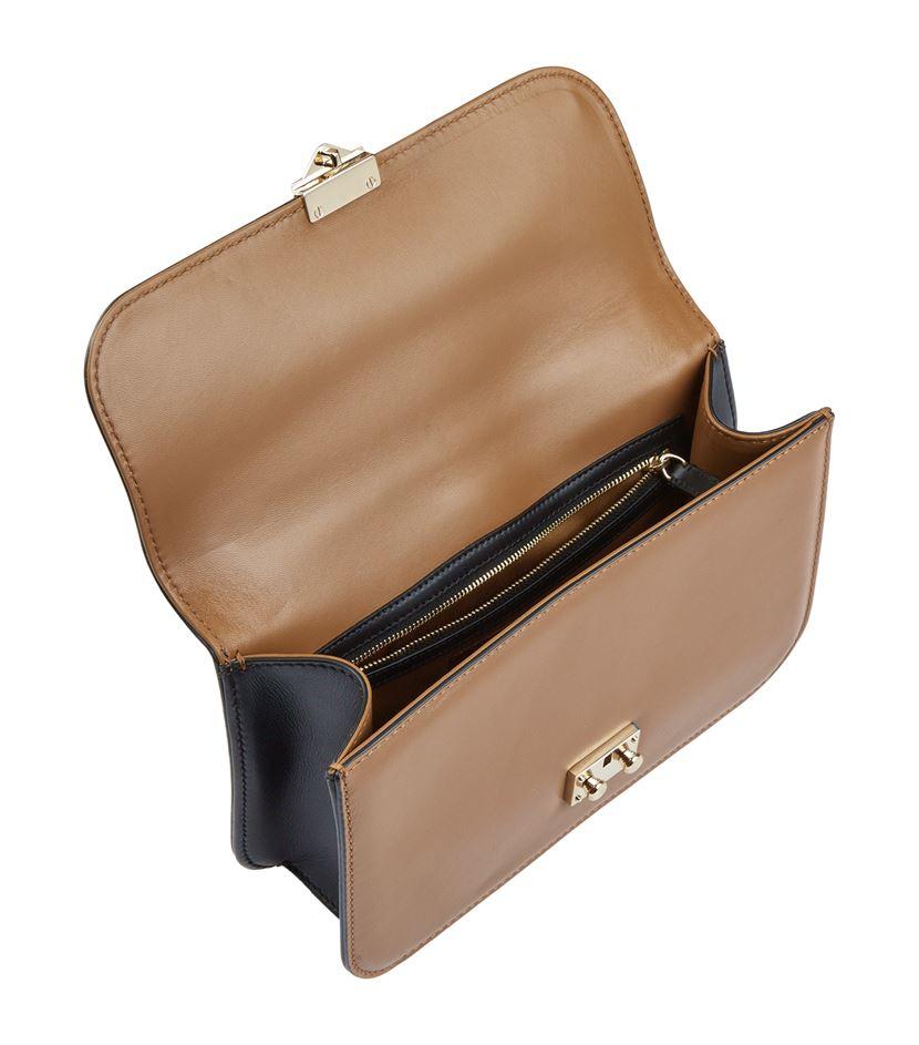 valentino medium bi colour rockstud lock bag in brown lyst. Black Bedroom Furniture Sets. Home Design Ideas
