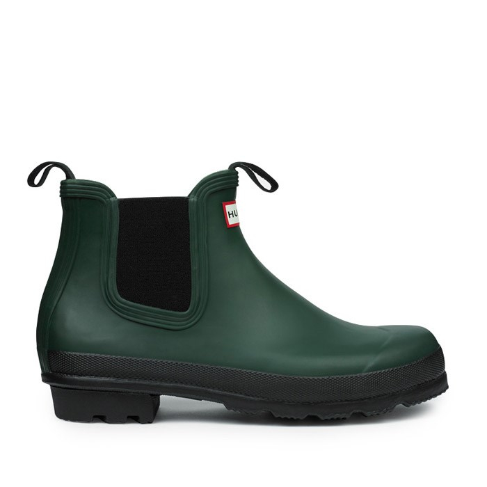 hunter mens original chelsea boots in green for men forest green lyst. Black Bedroom Furniture Sets. Home Design Ideas