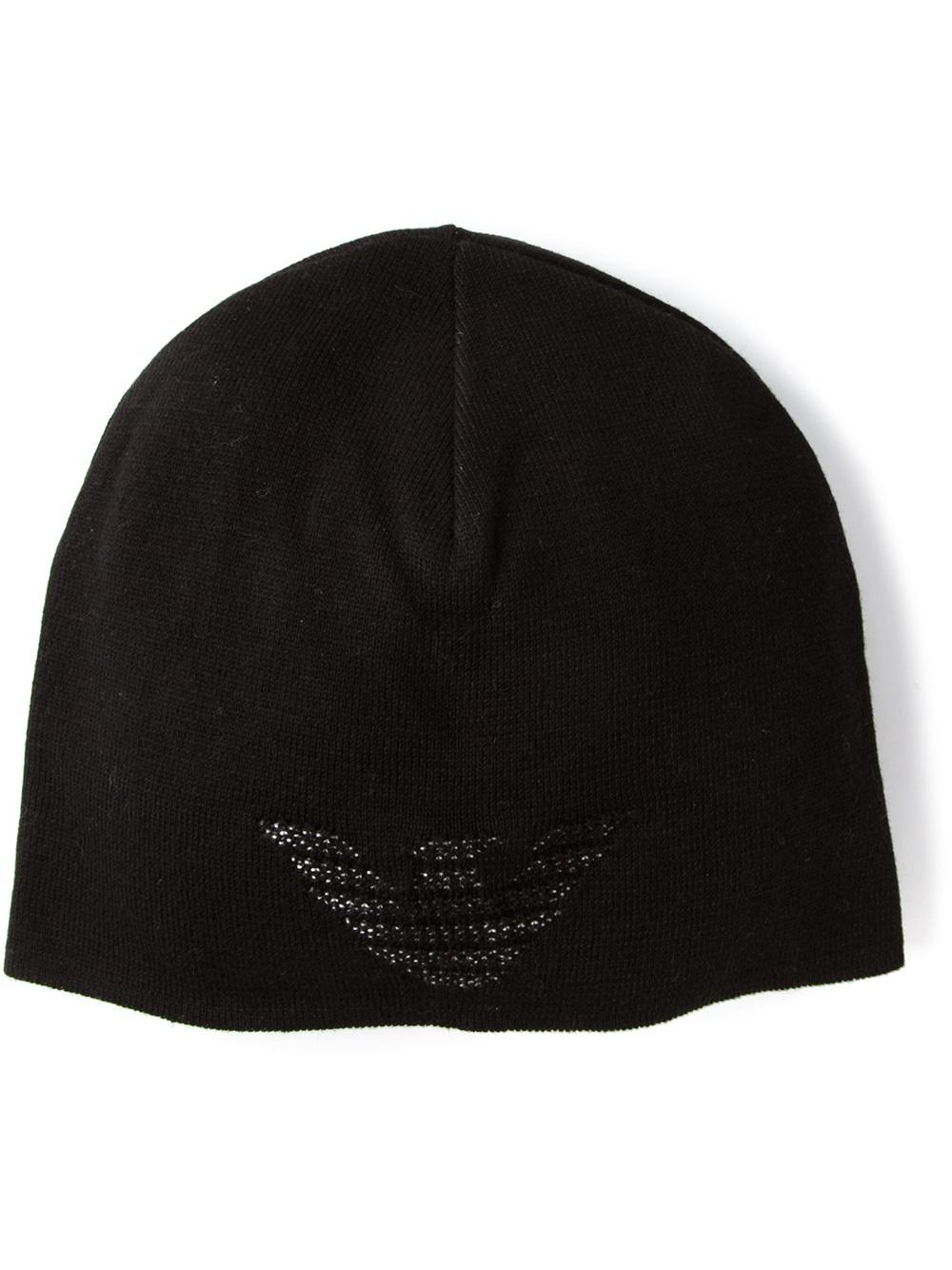 Lyst - Emporio Armani Beanie in Black for Men 288b8a142f8