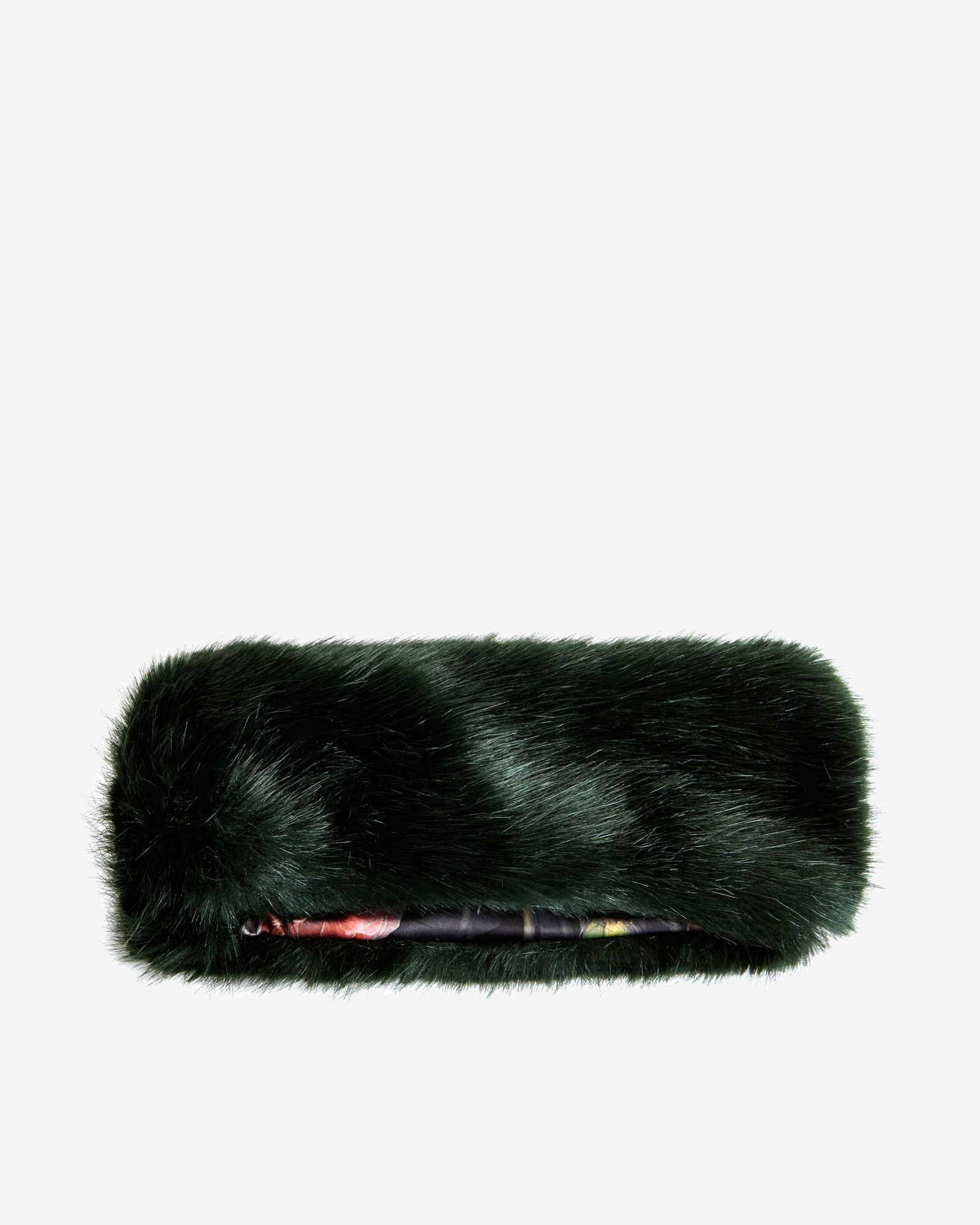 Ted Baker Faux Fur Headband in Green - Lyst 3ee1b9b8e44