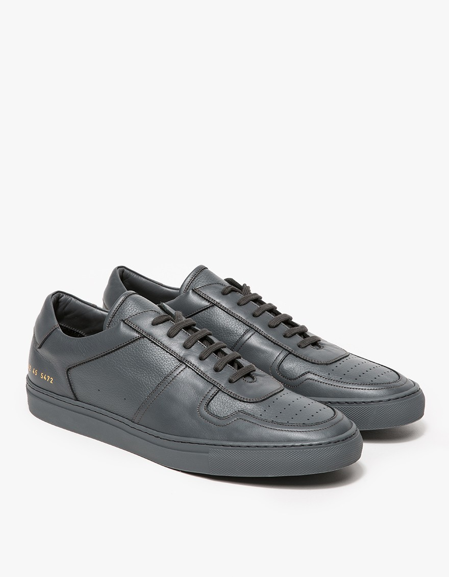 Common projects bball low in dark grey in black for men lyst