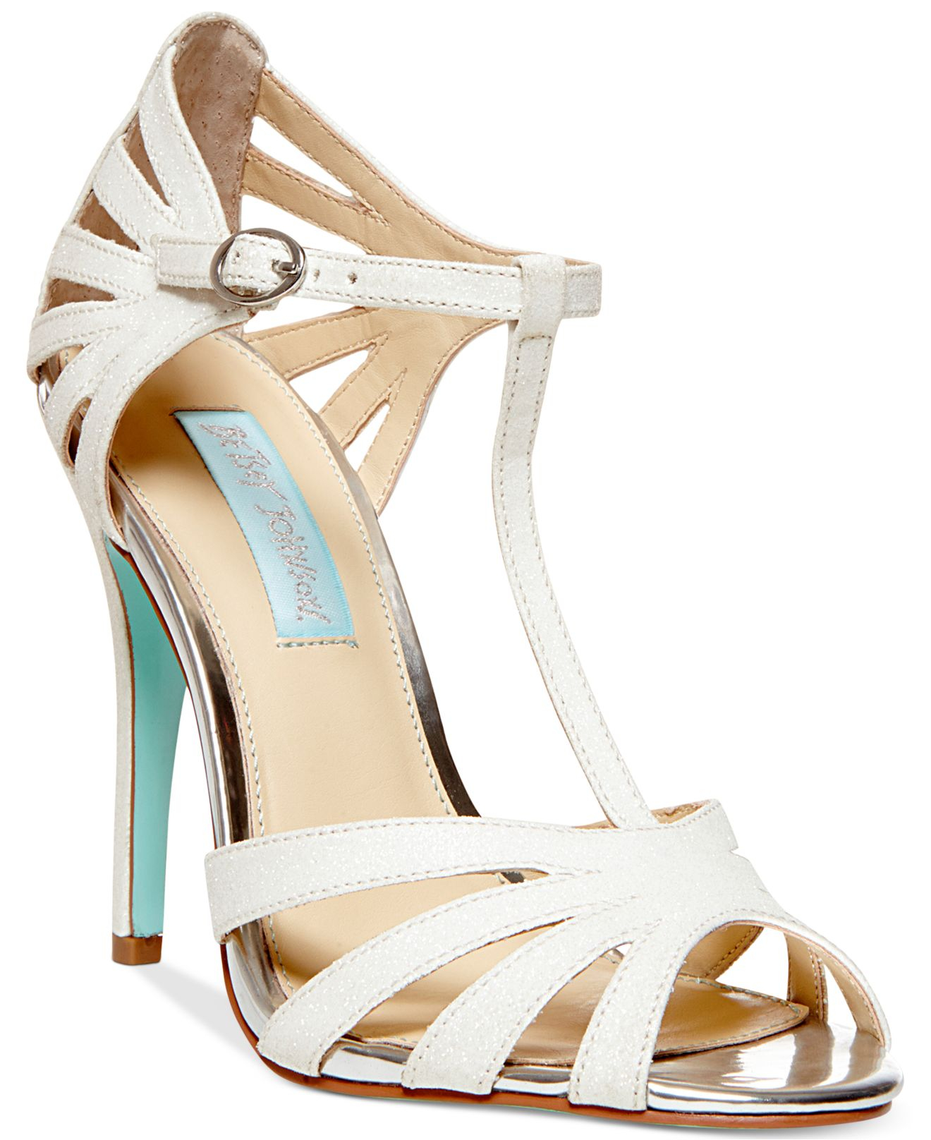 52d94736074 Lyst - Betsey Johnson Blue By Tee Evening Sandals in White