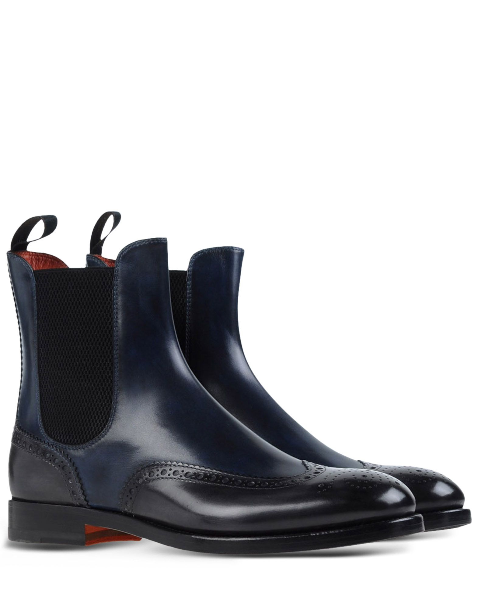santoni ankle boots in blue blue lyst