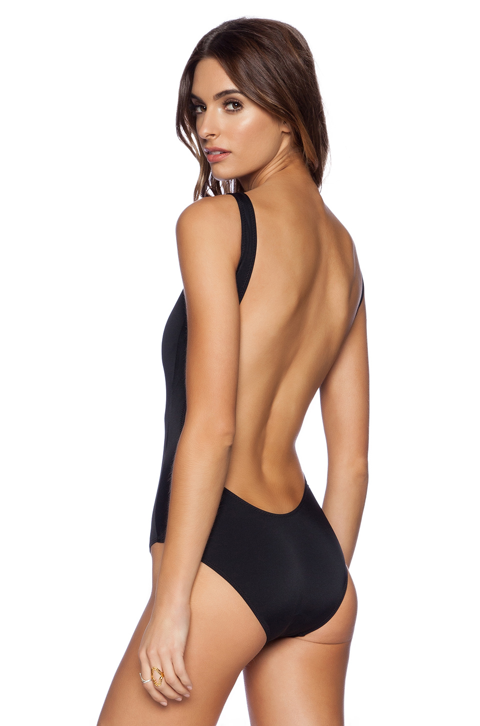 Norma Kamali Kamalikulture Super Low Back One Piece
