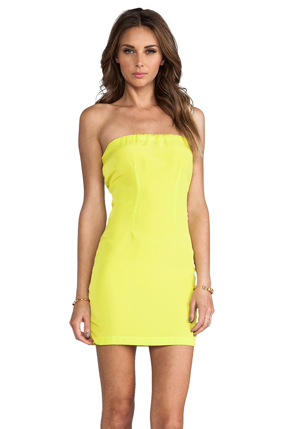 401f7377cd Lyst - Naven Neon Collection Tube Dress in Yellow