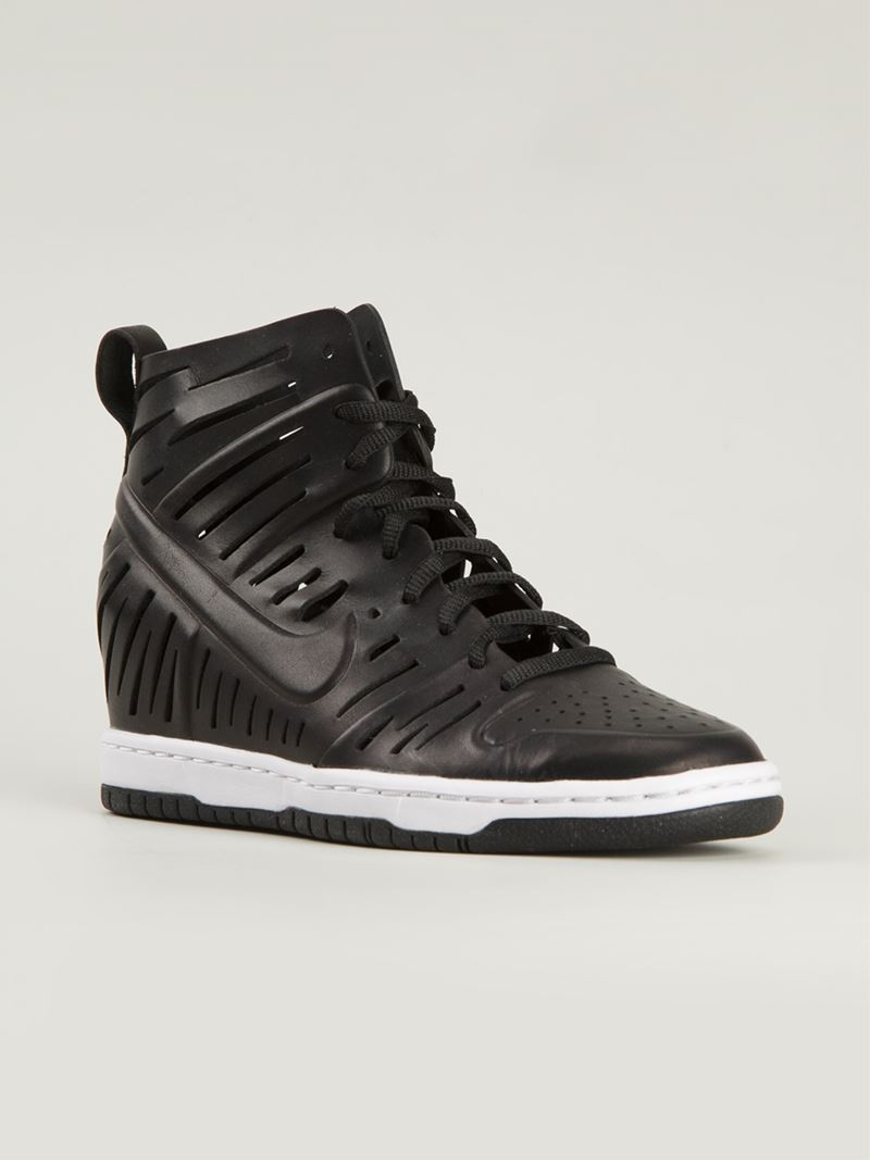 dc96f57a9 ... purchase lyst nike dunk sky hi joli sneakers in black 46f21 905bb