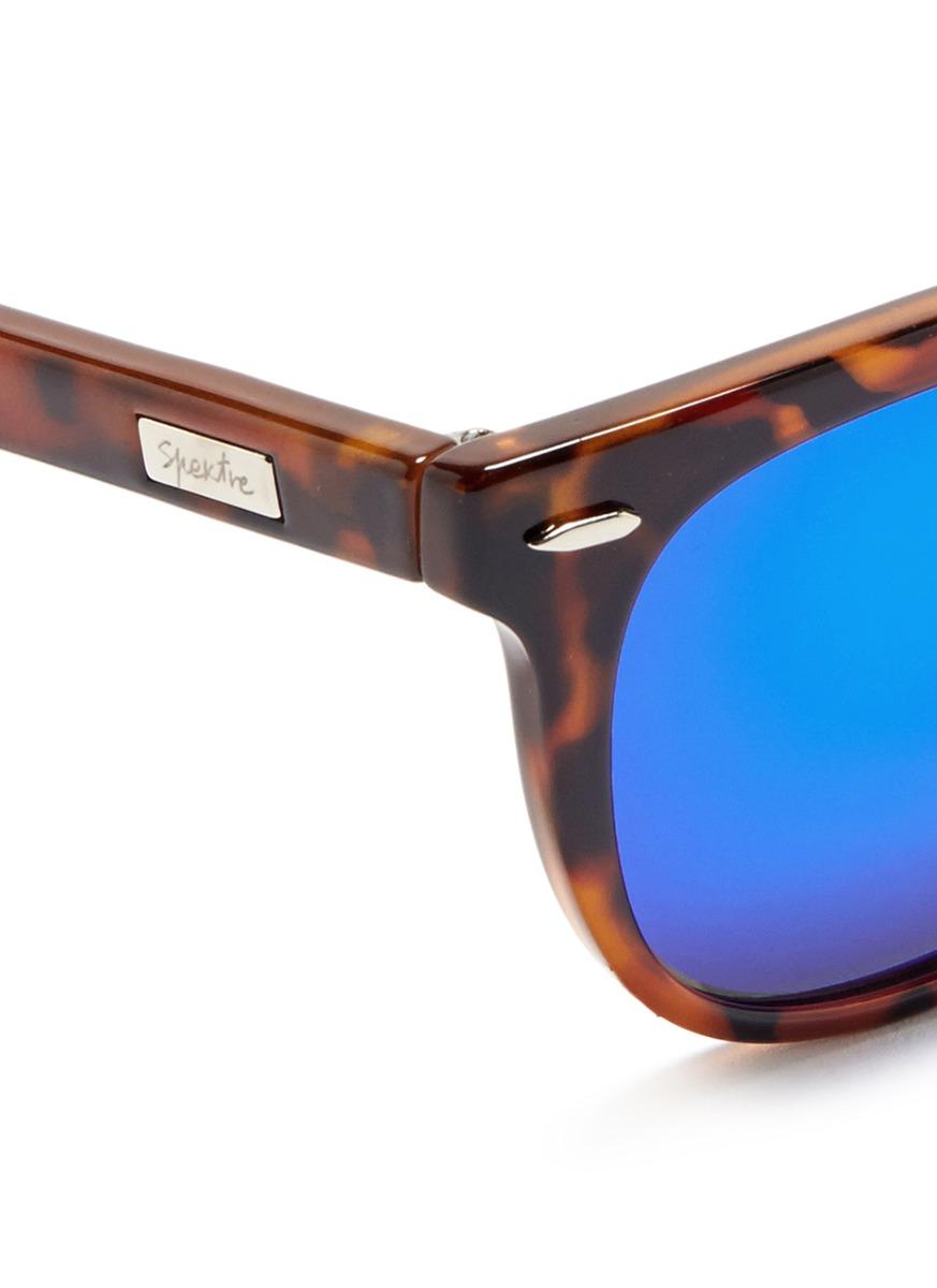 df0f16e733e Spektre  vitesse  Tortoiseshell Acetate Mirror Sunglasses in Brown ...