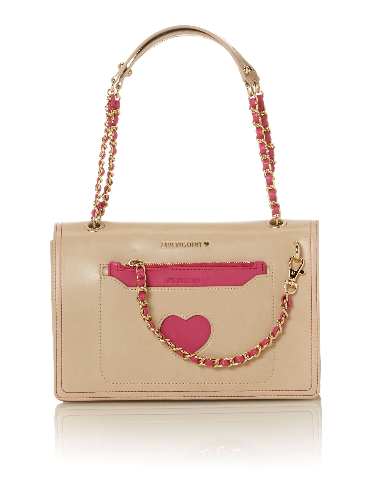 medium hearts shoulder bag - White Love Moschino AtYSIUseiW