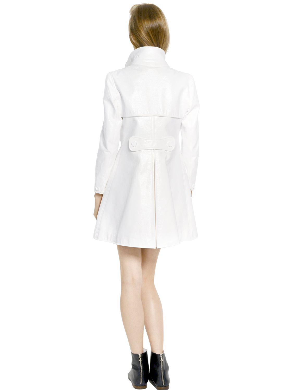 Louis Vuitton Made In France >> Lyst - Courreges Bonded Cotton Vinyl Trench Coat in White