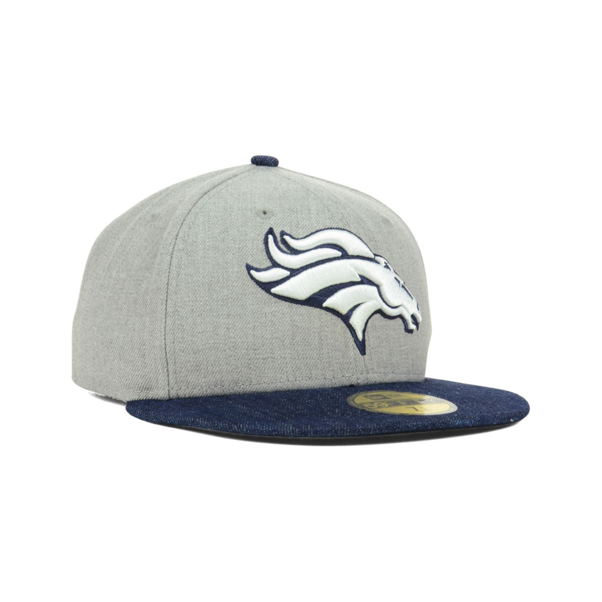 2f1fbc0fa83 Lyst - KTZ Denver Broncos Toppd Up Denim 59fifty Cap in Blue for Men