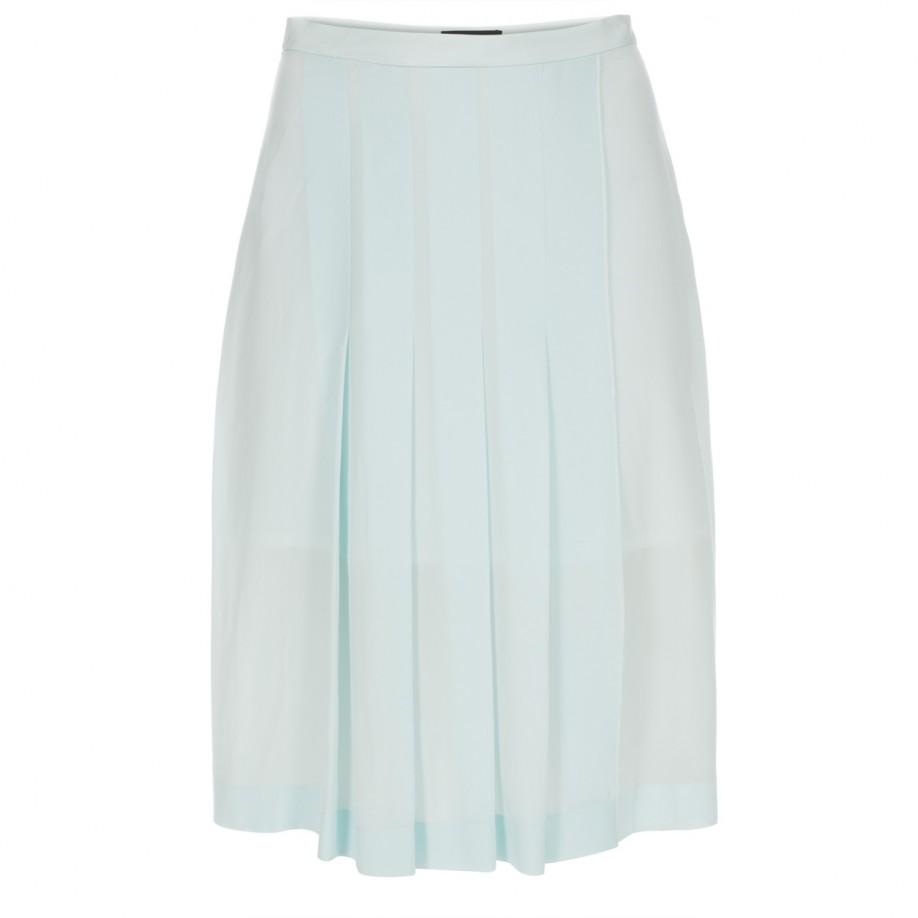 paul smith s mint green cr 234 pe silk pleated skirt in