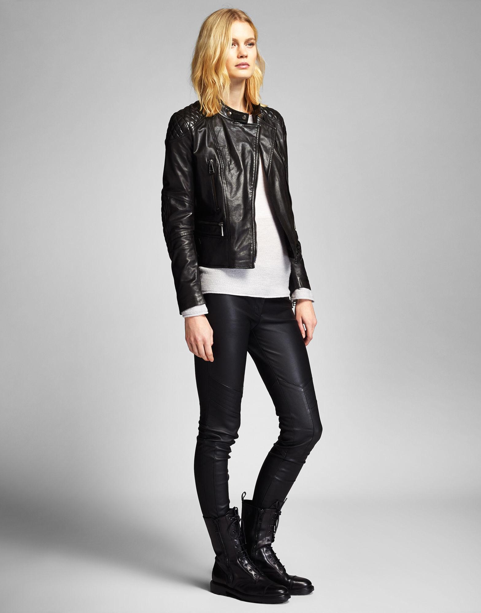 Belstaff Womens Leather Motorcycle Jacket