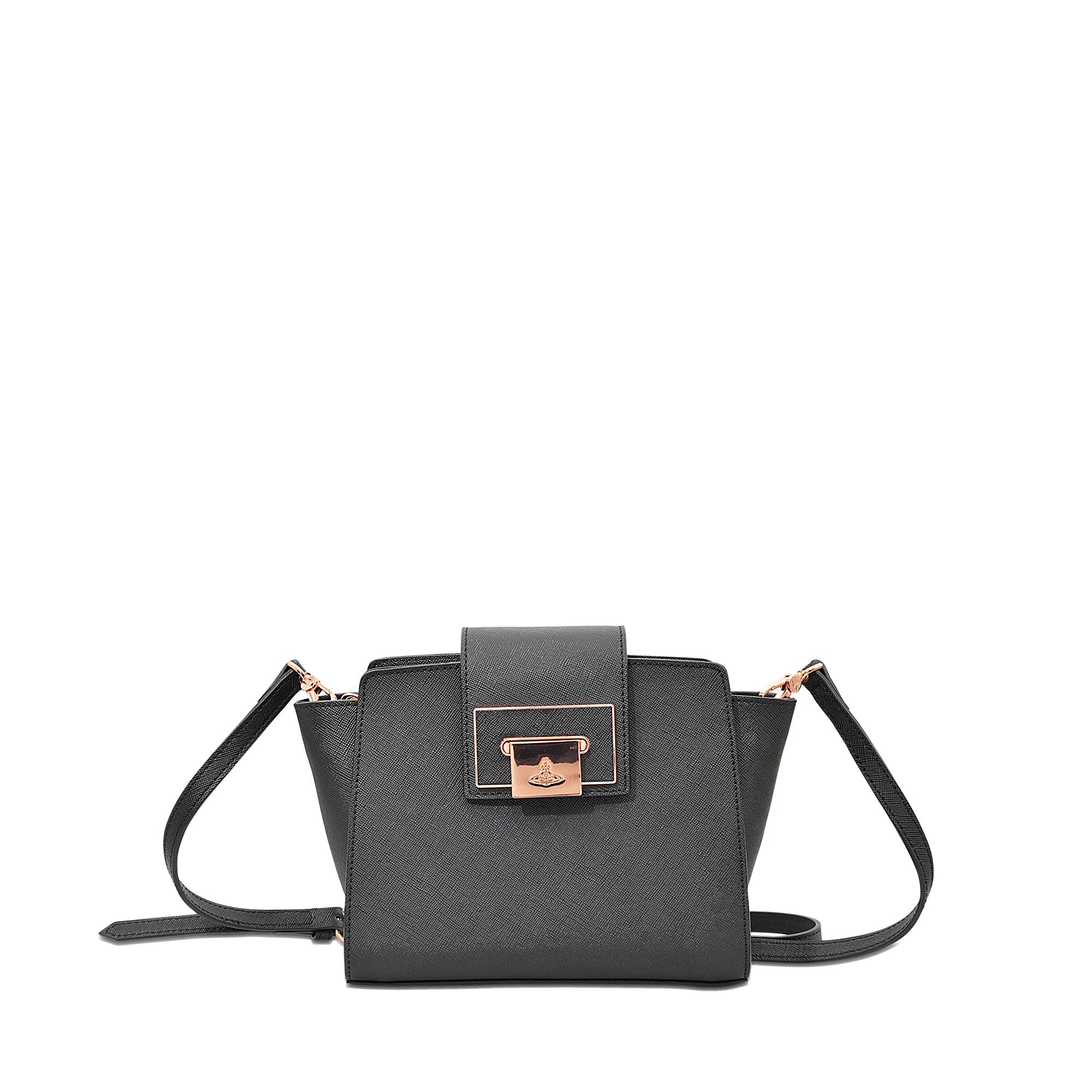 ffe3a2b86 Vivienne Westwood Opio Saffiano Crossbody Bag in Black - Lyst