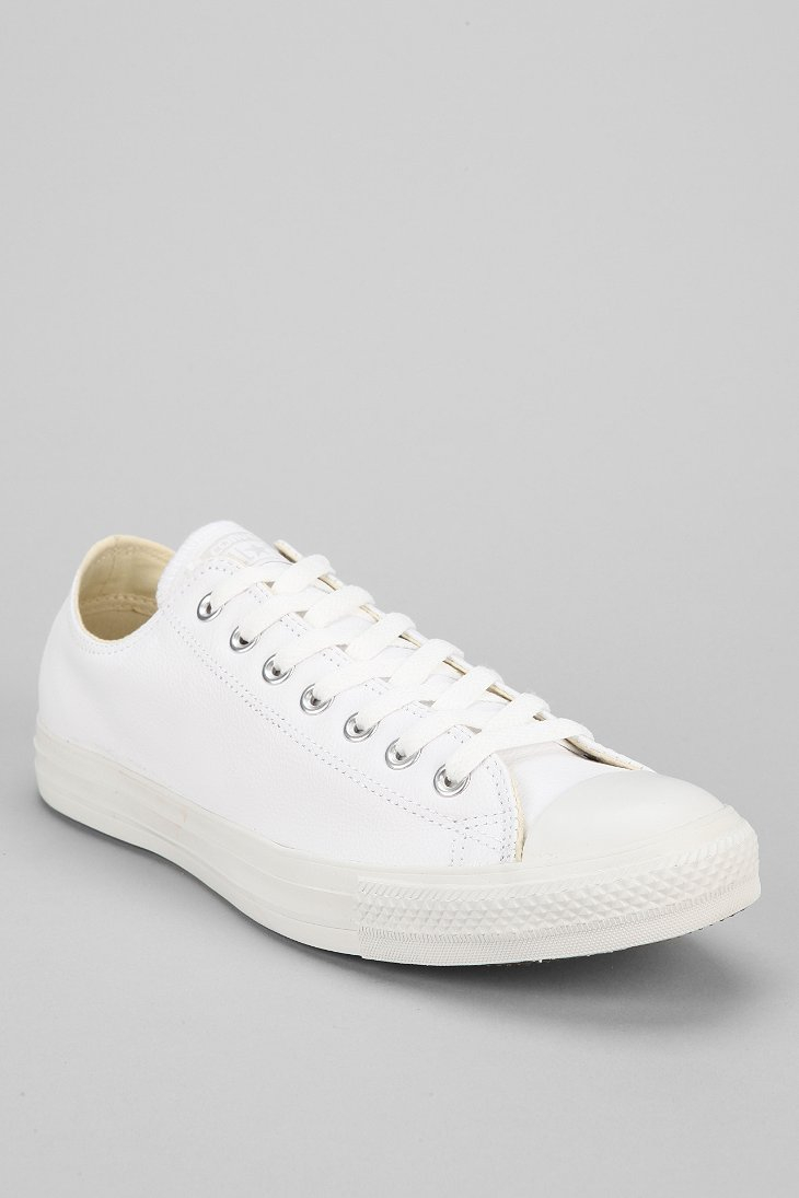 converse men shoes leather white