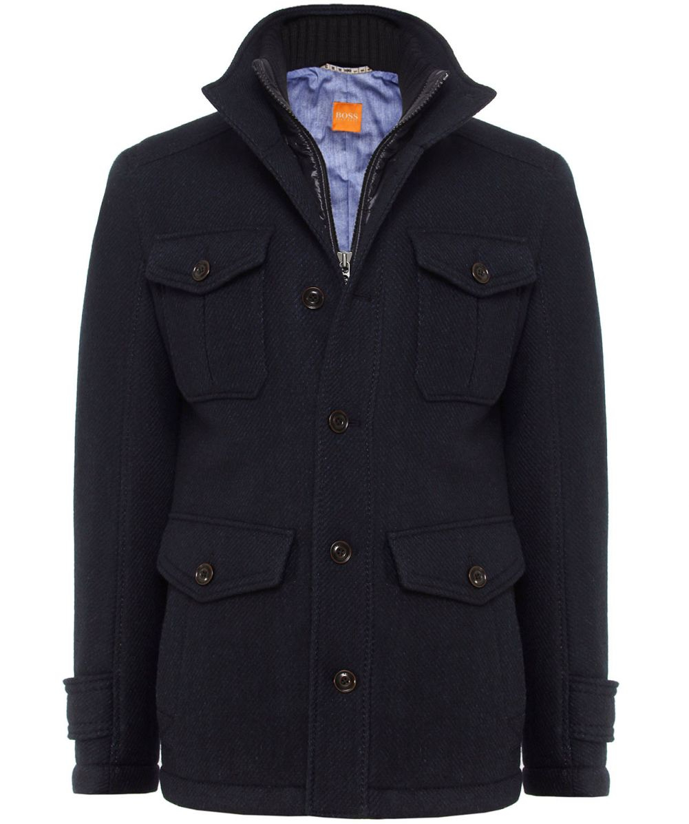 efad7825d98f Lyst - BOSS Orange Orfey Wool Coat in Blue for Men