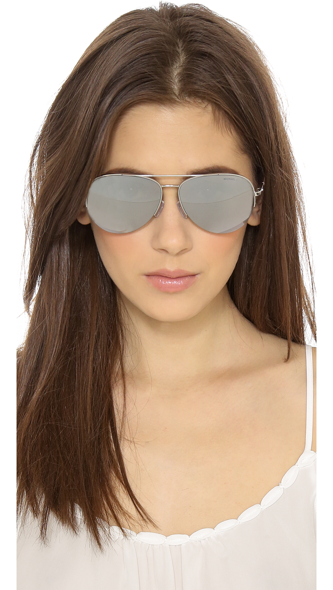 Michael Kors Mirrored Sunglasses  michael kors gramercy sunglasses silver light silver flash in