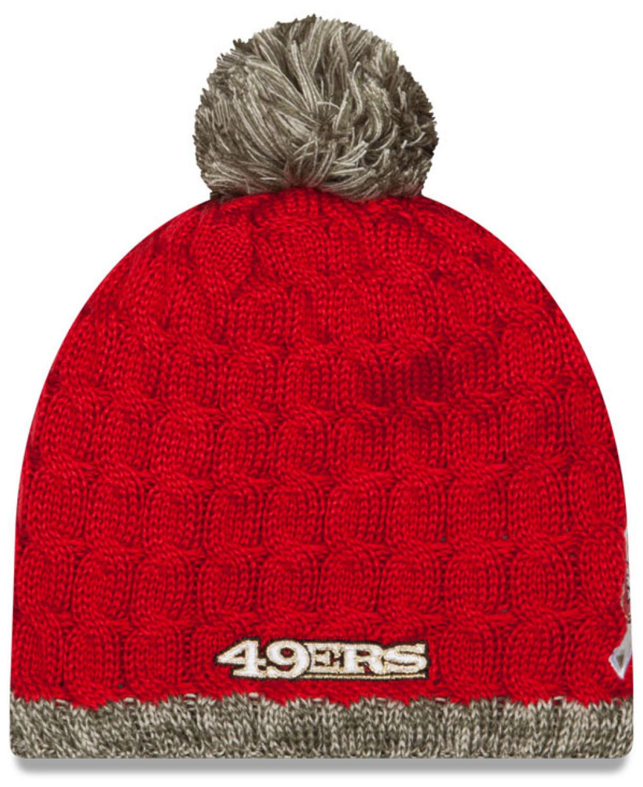 Youth San Francisco 49ers New Era Camo On Field Sport Salute to Service Knit Hat