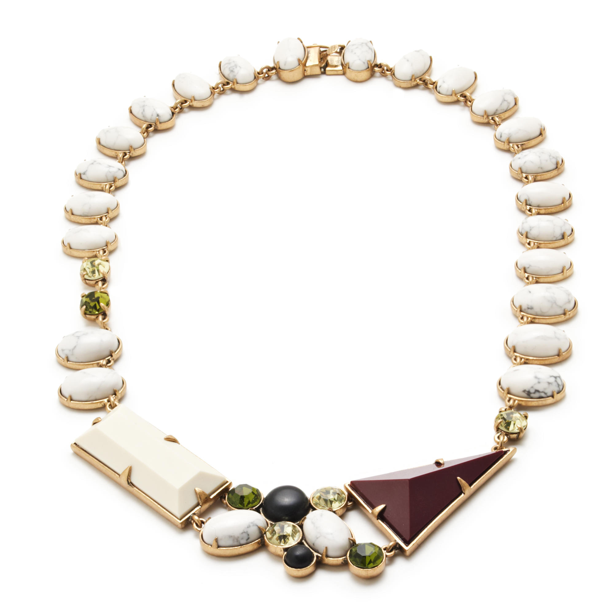 Lulu frost geometric shapes necklace lyst for J crew jewelry 2015
