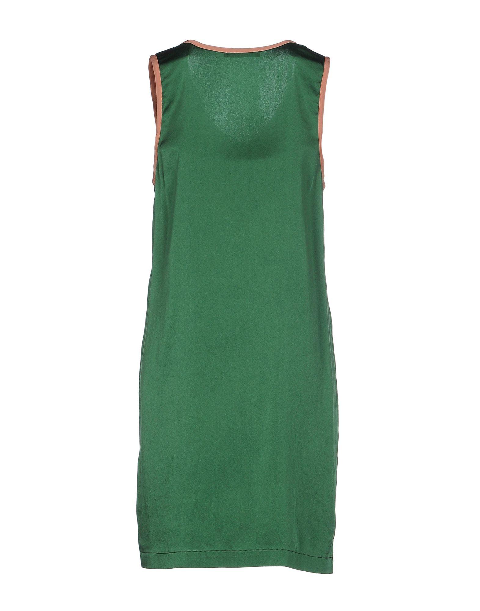 tessa short dress in green emerald green lyst
