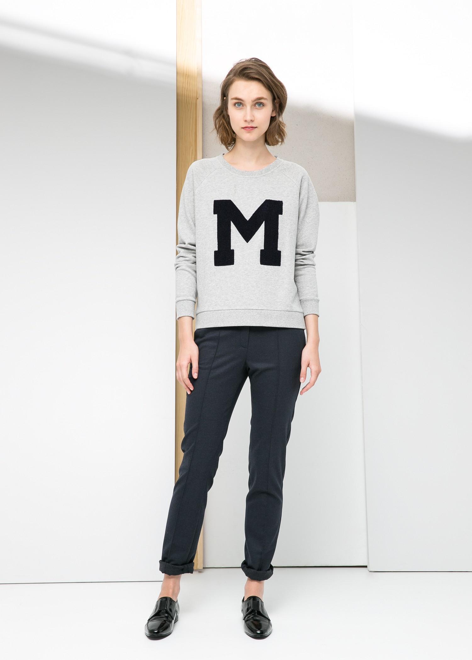 fcdc8c433 Lyst - Mango M Sweatshirt in Gray