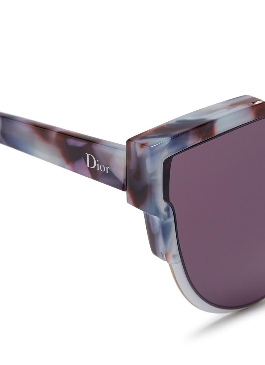 7f7e48807cc Lyst - Dior  wildly  Inset Metal Frame Tortoiseshell Acetate Sunglasses