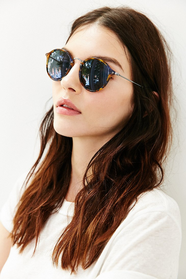 Ray Ban Round Fleck Glasses
