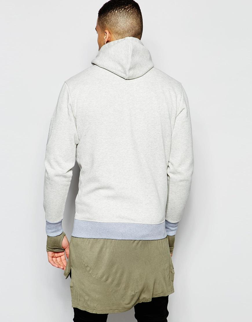 g star raw zipthru hoodie kendo in vintage heather in gray. Black Bedroom Furniture Sets. Home Design Ideas