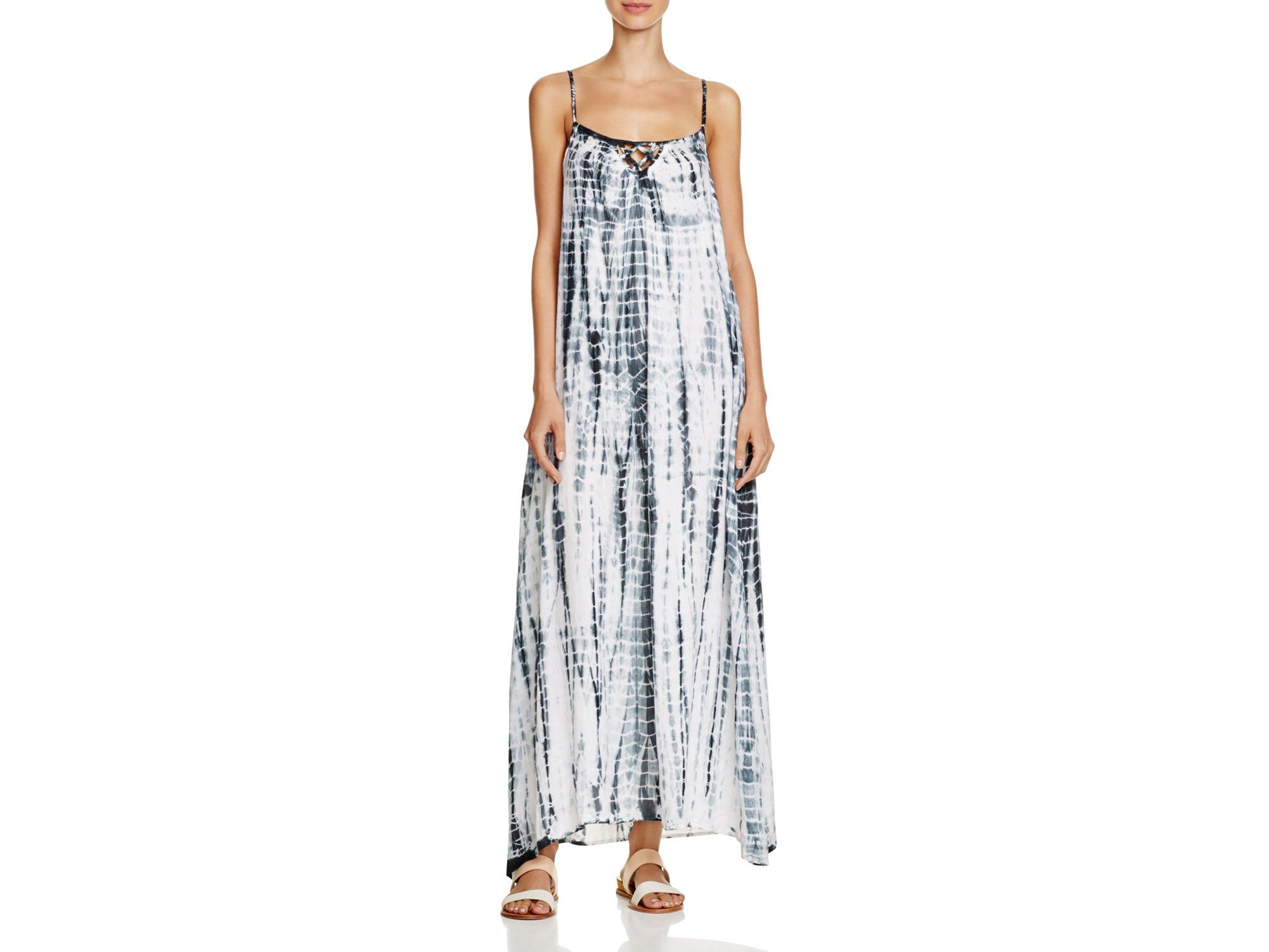 ca86b76327 Lyst - Surf Gypsy Tie Dye Maxi Dress Swim Cover Up in Gray