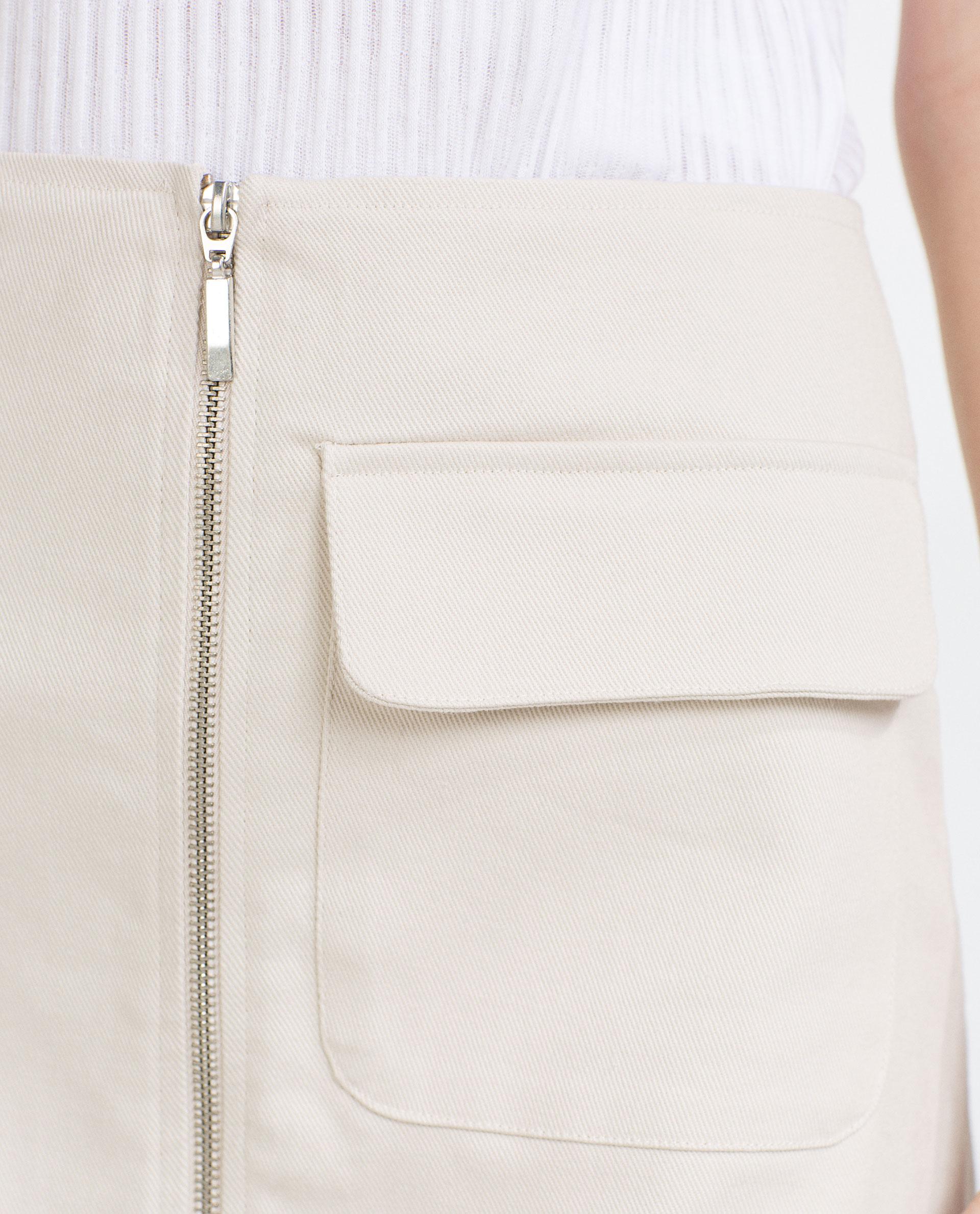 zara a line skirt in white lyst