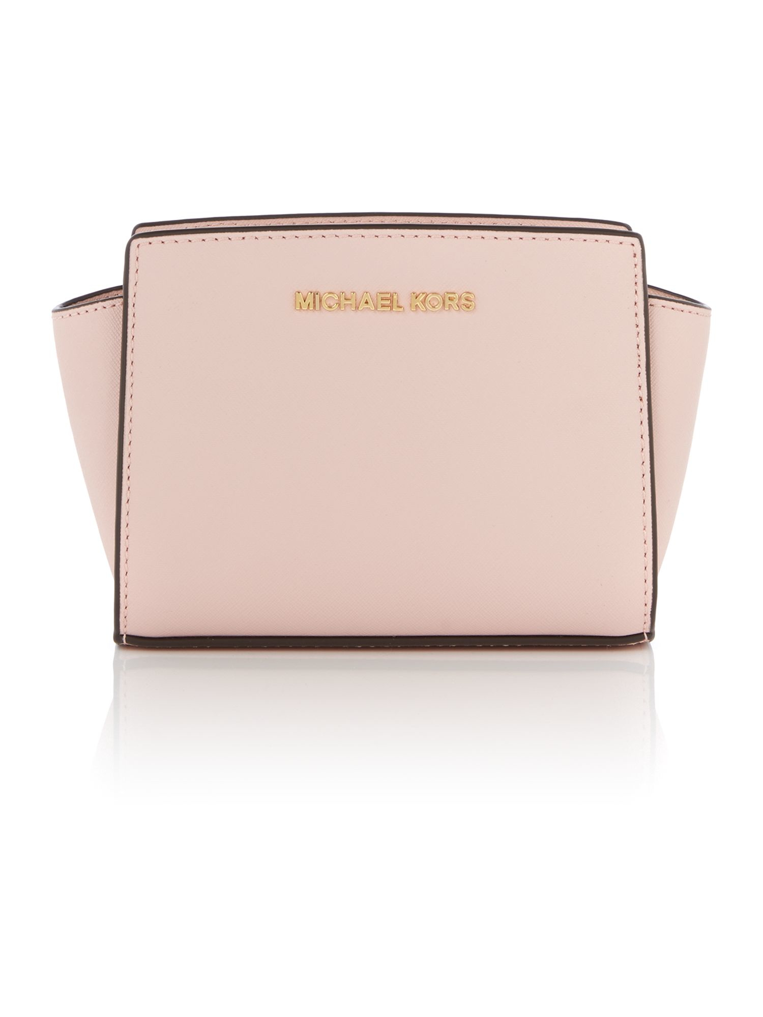 michael kors selma pale pink mini cross body bag in pink lyst. Black Bedroom Furniture Sets. Home Design Ideas