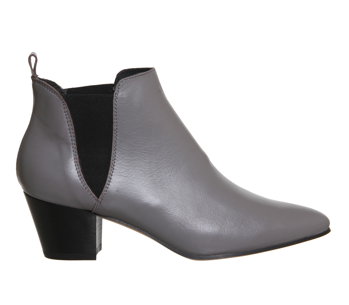 office coolcat almond toe chelsea boots in gray lyst. Black Bedroom Furniture Sets. Home Design Ideas