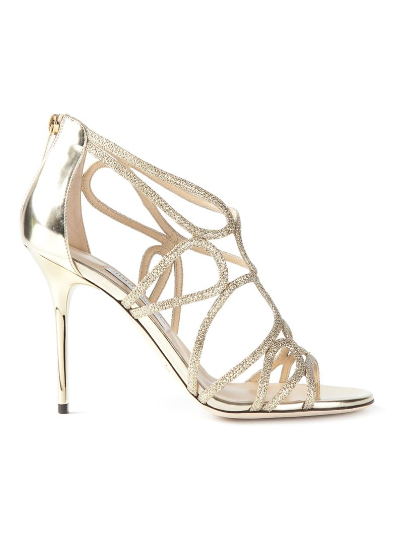 f05d65dab51f Lyst - Jimmy Choo  Layla  Sandals in Metallic