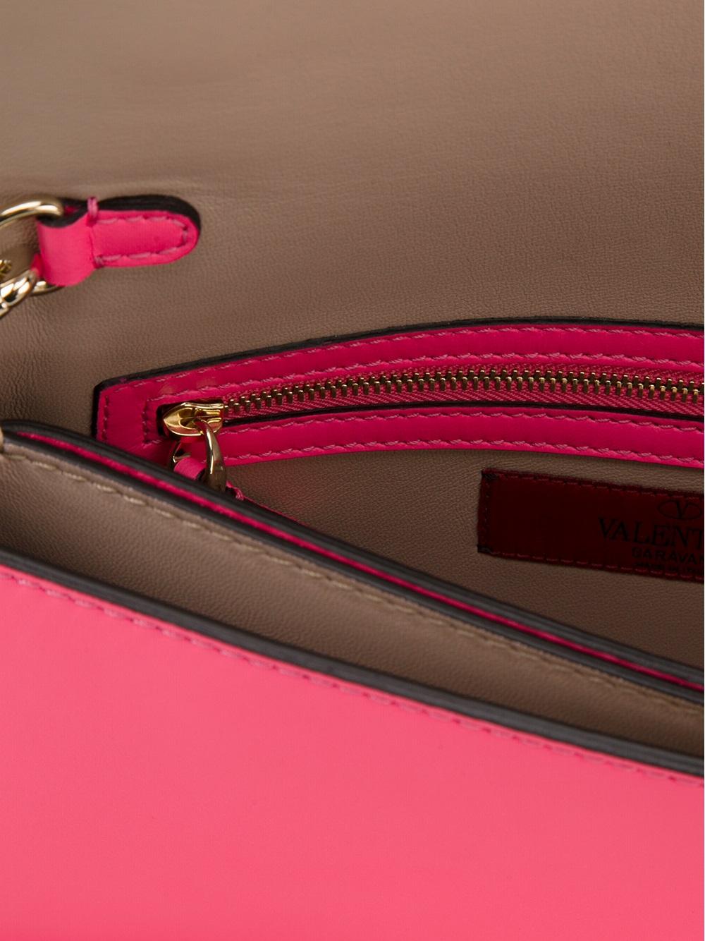 valentino rockstud clutch in pink lyst. Black Bedroom Furniture Sets. Home Design Ideas
