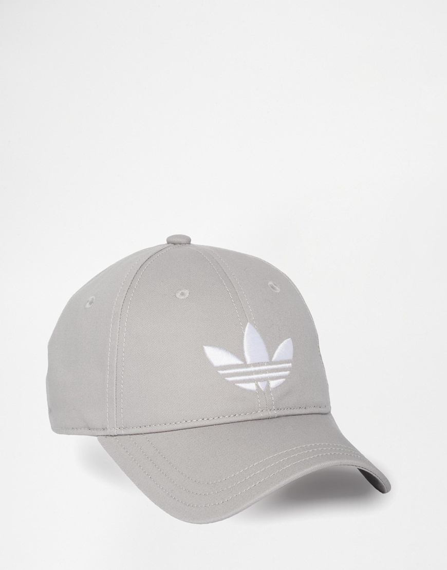 bfd0722cd8c Lyst - adidas Originals Trefoil Cap in Gray