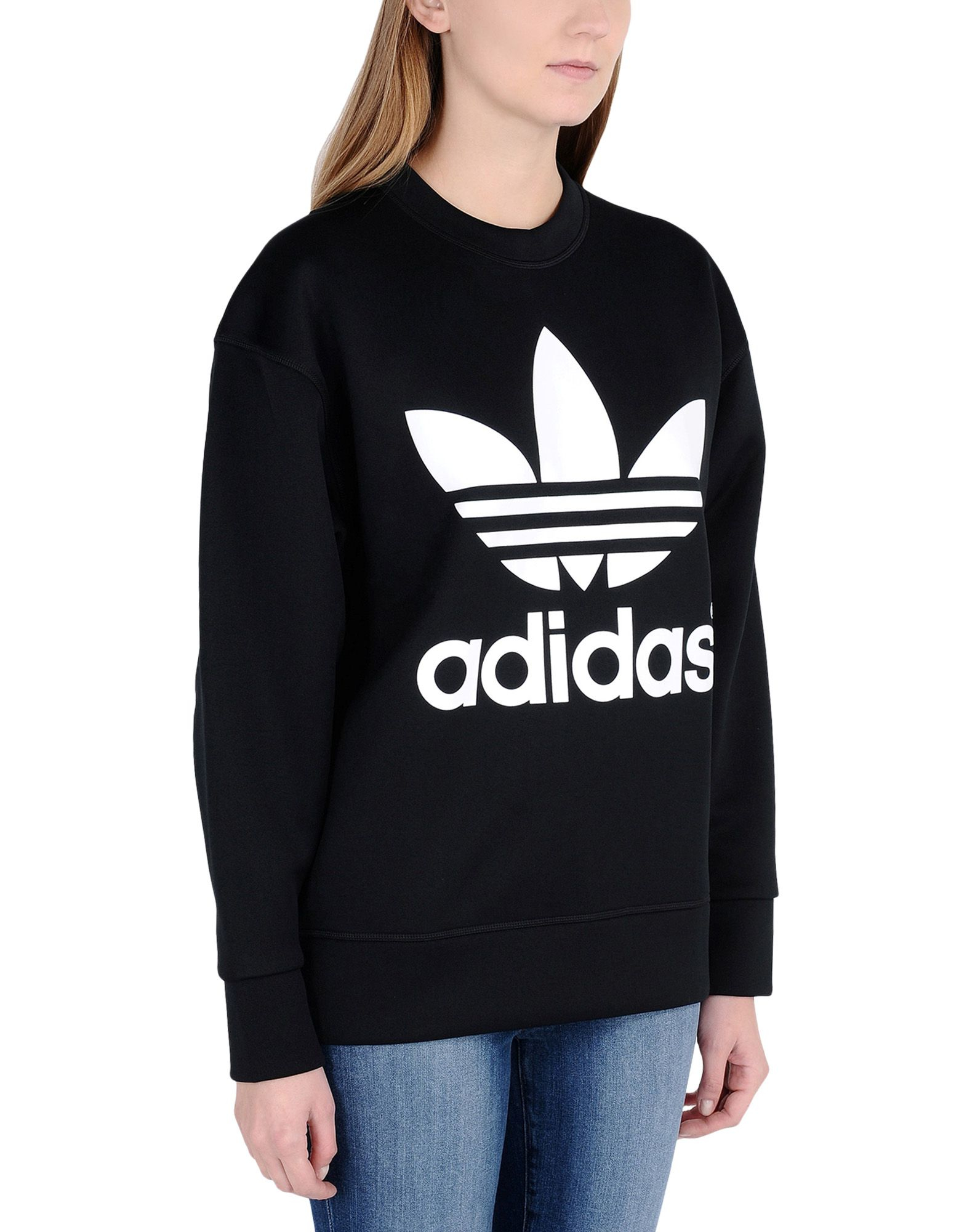 adidas originals sweatshirt in black lyst. Black Bedroom Furniture Sets. Home Design Ideas